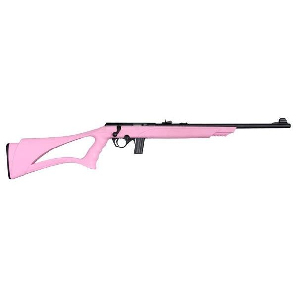 Mossberg 802 22lr Bolt Action Rifle Pink Synthetic Sport Grip