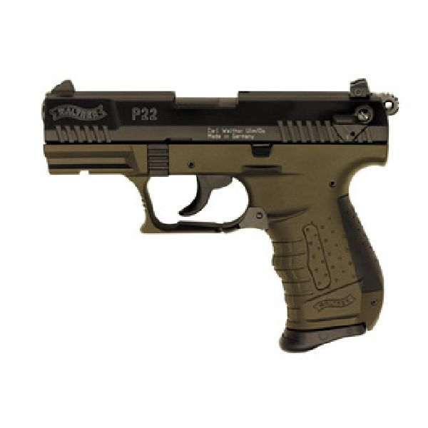 "Walther P22M Military 22LR 3.42"" TB 10+1 OD Green"