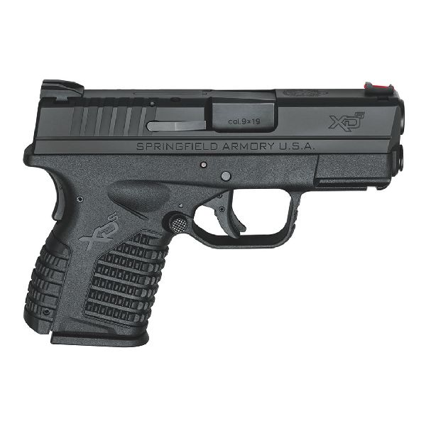 "Springfield  XD-S Essential 9 mm DAO 3.3"" 7+1 Polymer Black"