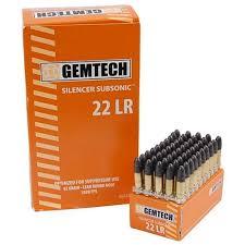 Gemtech  22 LR Ammunition, 50 Rounds, Subsonic LRN, 42 Grains
