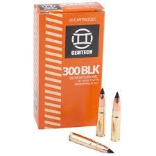 Gemtech 300 AAC Blackout Ammunition 20 Rounds,